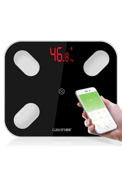 GASON S4 Body Fat Scale Digital Bluetooth APP Android or IOS - Black
