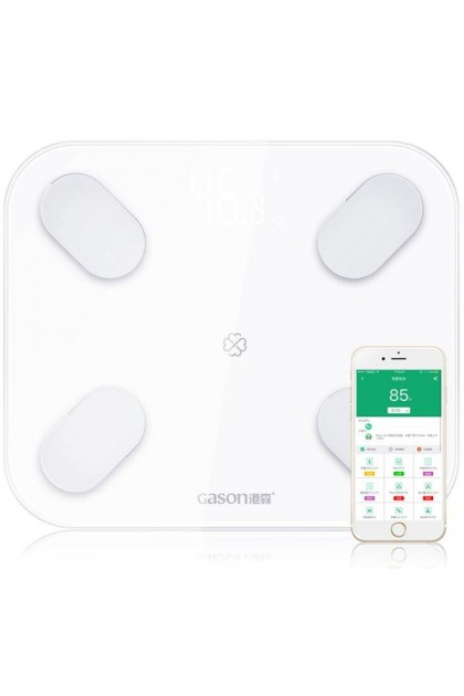 GASON S4 Body Fat Scale Digital Bluetooth APP Android or IOS - White