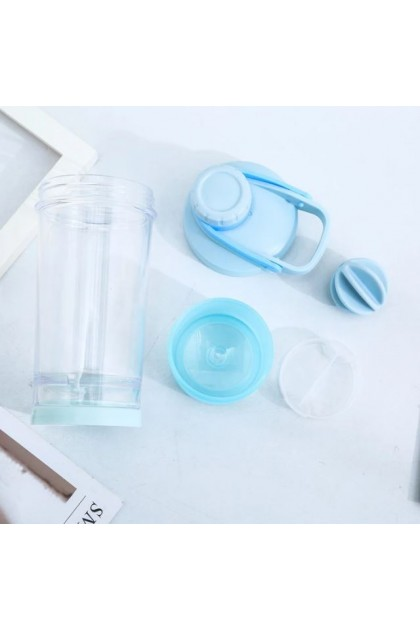 Grey Shaker Bottle 600ml & Cover set