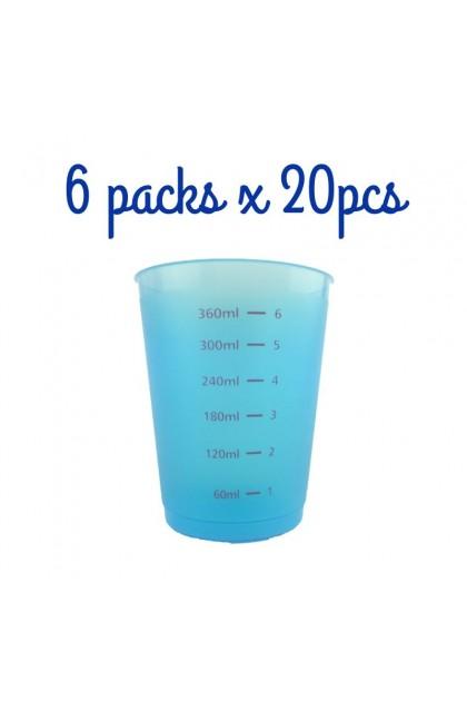Bundle 2 - 6xSpoon & 6x450ml Blue Measuring Cups