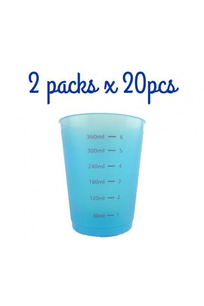 Bundle 3 - 6xSpoon & 2x450ml Blue Measuring Cups & 1x450ml Bottles